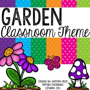 """This is a super cute classroom decoration packet that is in a garden theme!  This over 150 page packet includes: Nameplates Months of the Year Days of the Week Calendar """"stuff"""" Full Page Classroom Alphabet Set Name Tags Classroom Numbers 1-20 with ten frames Cubby Numbers Table Tags Classroom Jobs Supply Labels Word Wall Alphabet Welcome Postcard Communication Folder Cover Data Folder Cover 2 Welcome Banners Transportation Clip Chart Birthday Pencil Toppers Small Birthday Chart Colo..."""