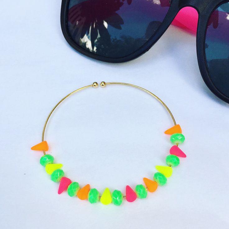 multicolor neon bracelet