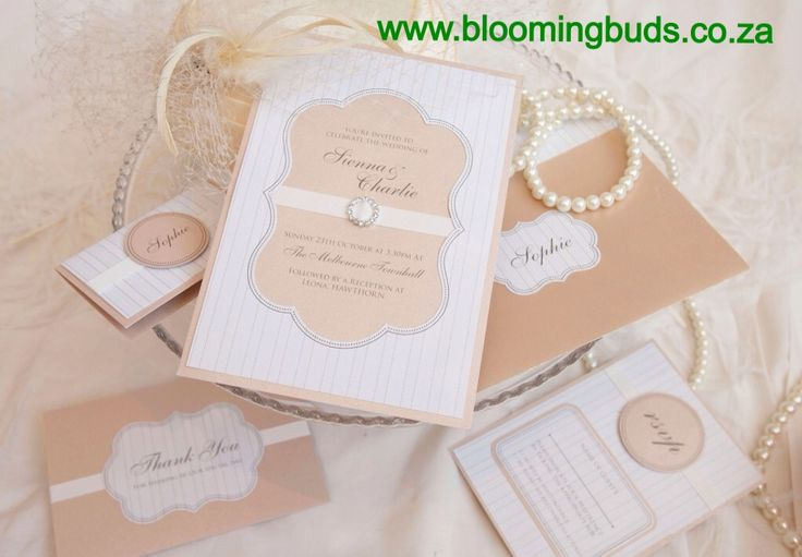 White & Peach Stationary.
