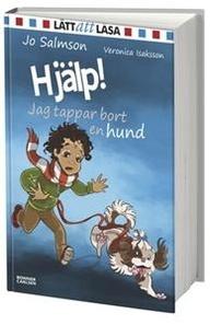"""Hjälp! Jag tappar bort en hund – Jo Salmson     Fristående fortsättning på """"Hjälp! Jag gjorde illa Linn"""" som jag älskade. Det här är också en alldeles förträfflig börja läsa bok. Pojken som är huvudperson i både den här boken och """"Hjälp! Jag gjorde illa Linn"""" har fått i uppdrag att passa en hund åt en granntant som ligger på sjukhus men hunden rymmer ner i en källare där det sitter otäcka killar som går i 5:an, kommer han att våga sig ner för att hämta hunden?"""