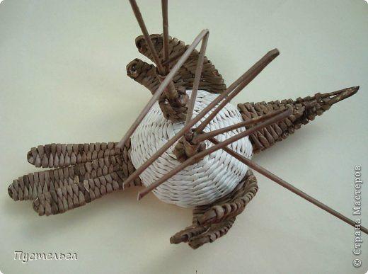 Мастер-класс Поделка изделие Плетение Сорока ворона Бумага Трубочки бумажные фото 15