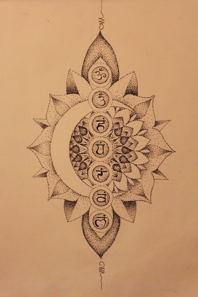 mandala chakras tattoo - Google Search