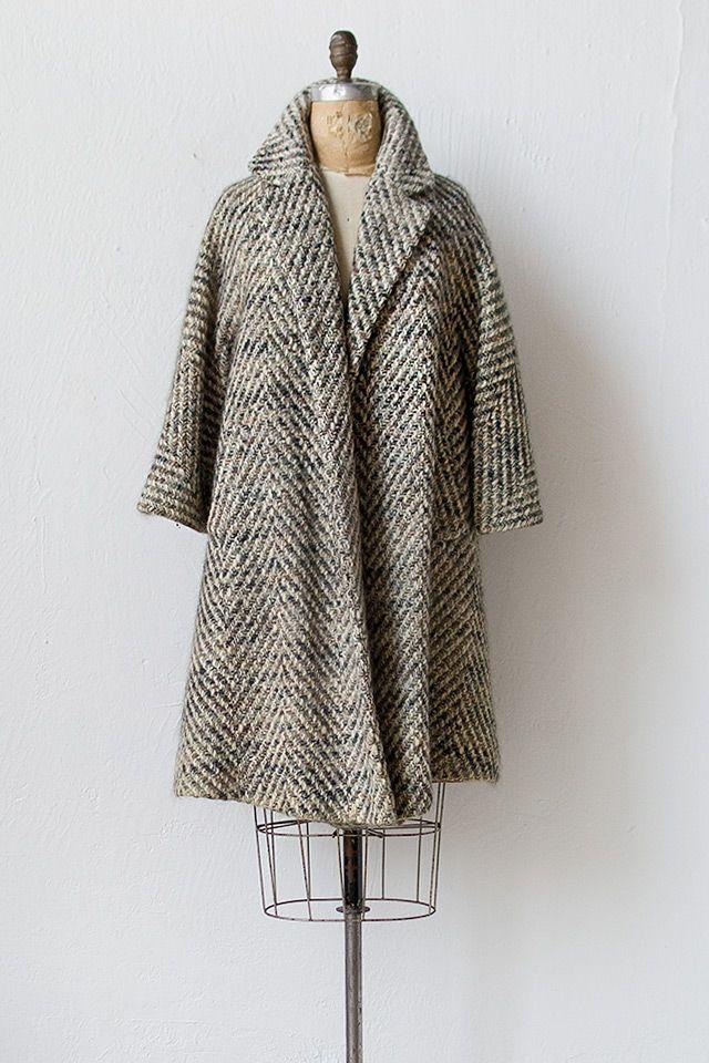 vintage 1950s swing coat   Audincort Swing Coat