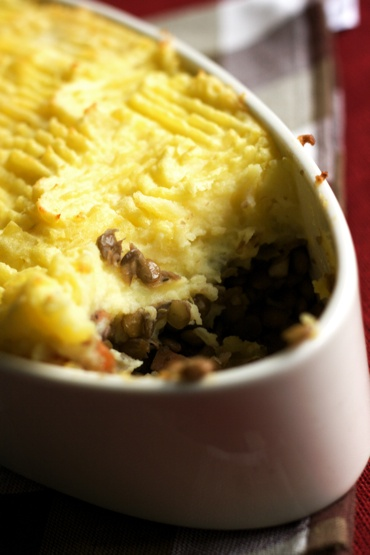 shepherds pie with lentils