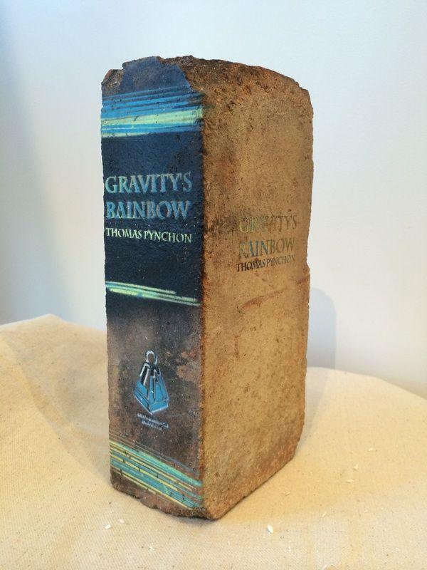 """Gravity's Rainbow • 9"""" X 4.25"""" X 2.5"""" • Repurposed Brick"""