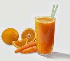 La délicieuse combinaison de carotte, d'orange et de persil  Extrayez le jus de deux oranges. Une fois que vous l'avez obtenu, mettez-le dans un mixeur avec deux carottes nettoyées, et coupées en morceaux. Ajoutez 250 ml d'eau et mixez jusqu'à obtenir un jus bien homogène.