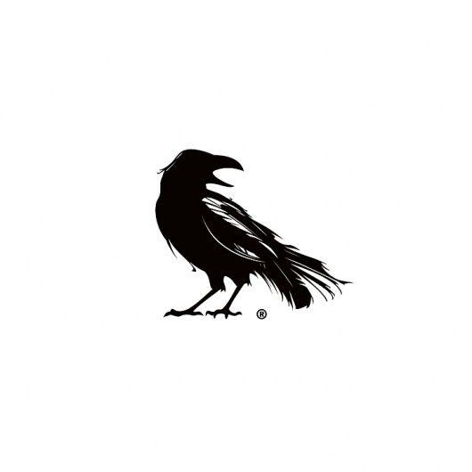 A crow as a logo