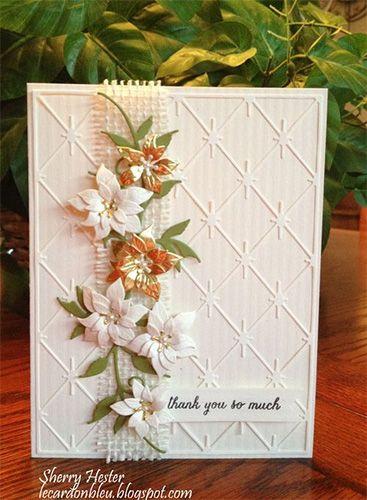 Poinsettia Thank You Card