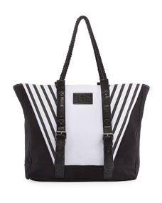 JETS by Jessika Allen Contrast Paneled Beach Bag, Multi