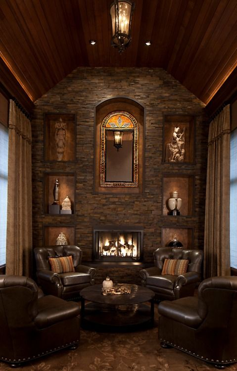 This is so gorgeous and extremely inviting. Love the stonework!! Pinned by Lorrie White | #DreamHomes