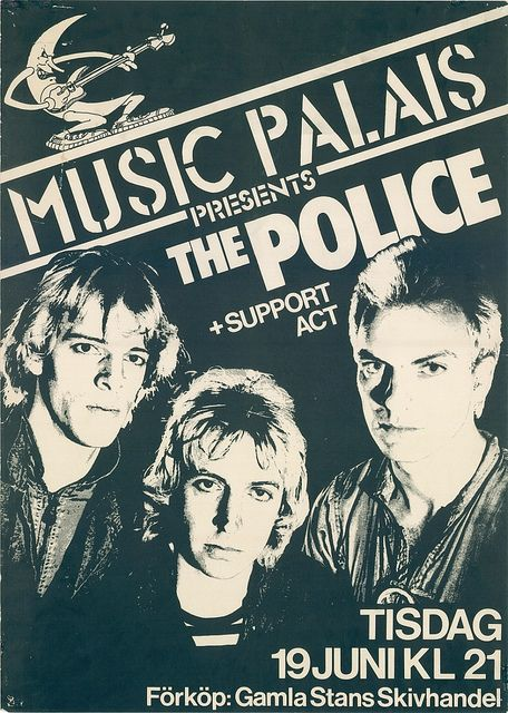 The Police concer posters | the police 1979 june 19 live concert at stockholm sweden poster