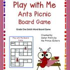 Cute board game to practice Dolch word familiarity!...