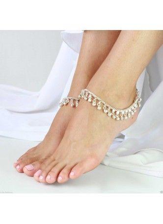Индийские браслеты на ноги - паялы