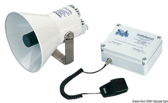 Tromba elettronica con amplificatore per imbarcazioni dai 12 ai 20 metri Scopri di più su -->