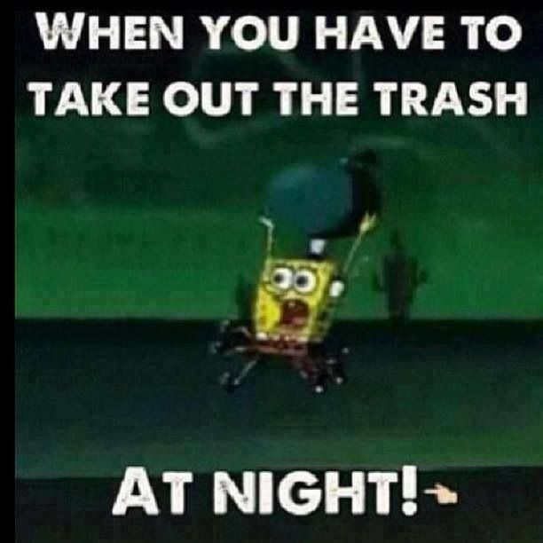 Taking out the trash at night myvmk forums - Why you shouldnt take the trash out at night ...