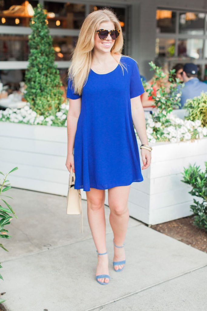 Louella Reese - Transitioning my little blue dress from day to night for date night/girls night out!