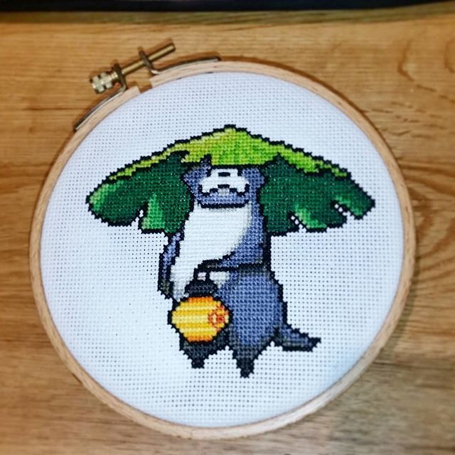 I'm OTTERly in love with this #FinalFantasy #crossstitch by @the_happy_pixel (see what I did there?)http://pic.twitter.com/odjyOP5KS0