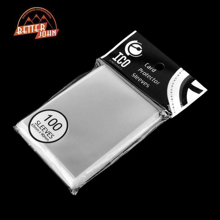 Kartu Protector 100 pcs/pack 65*90mm Kartu Lengan Kartu Sihir dari Tiga Kerajaan Football Bintang Transparan Membukanya Permainan lengan