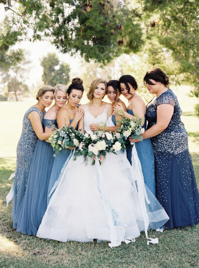 This here celebration goes to show that incorporating tradition doesn't *necessarily* have to be something expected. Take Ashley for example, the bride that managed to infuse her style with a fresh take on tradition by making her BFFs (aka the lovely ladies