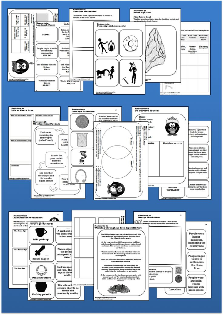 PUPIL RESOURCES Stone Age to Iron Age pack http://ks2history2.wix.com/stoneage#!sample-pages/czqz