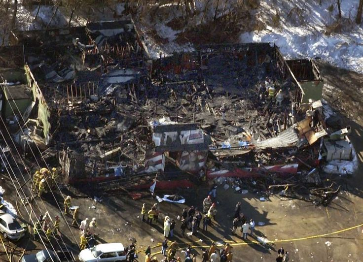 February 20, 2003: The Station nightclub fire - A fire sparked by pyrotechnics breaks out during a concert by the group Great White at The Station nightclub in West Warwick, Rhode Island, killing 100 people and injuring about 200 others.