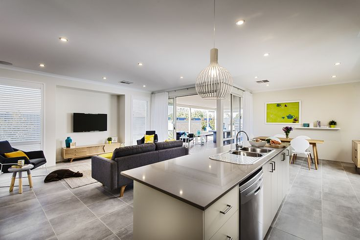Open Plan Living - Monroe Display Home - Homebuyers Centre - Baldivis, WA Australia