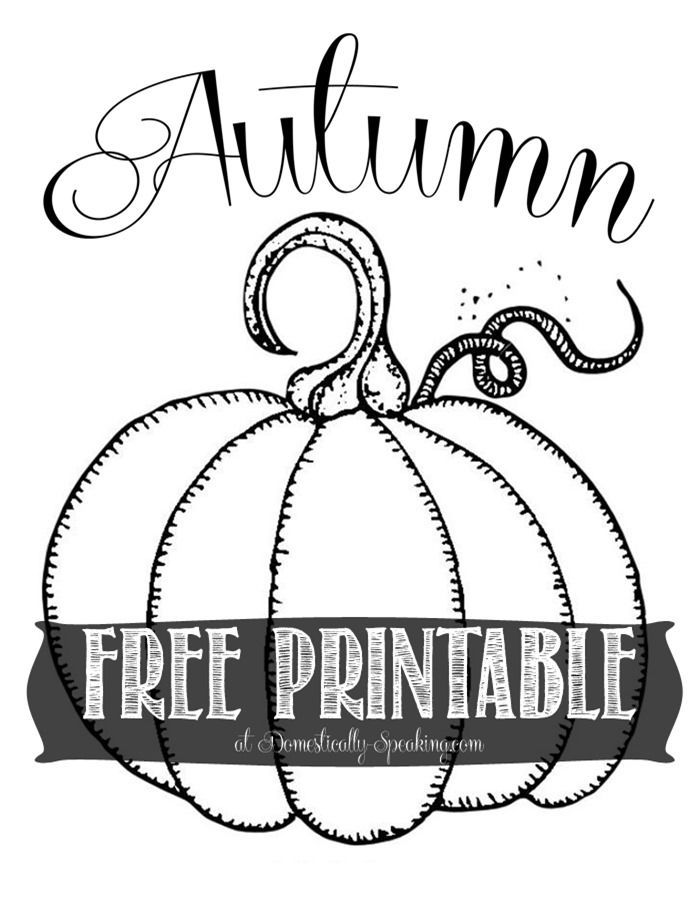 Free Autumn Pumpkin Printable so cute for fall