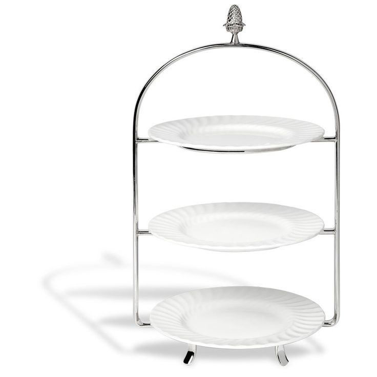 Silver-Plated 3 Tier Cake Stand | Bettys