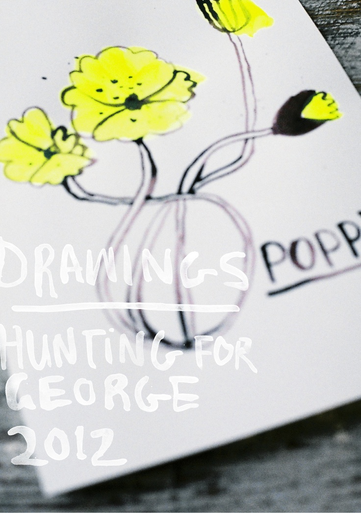 Diana Ellinger, drawings for Hunting for George