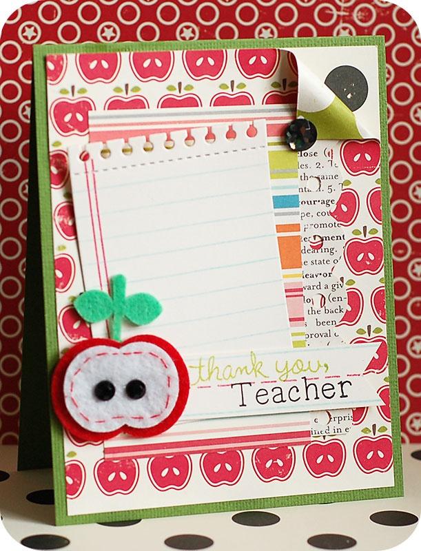love this: Teacher Thanks You, Projects, Teacher Appreciation, Cards Ideas, Teacher Cards, Cardmaking Galleries, Teacher Ideas, Thanks You Cards, Teacher Thank You