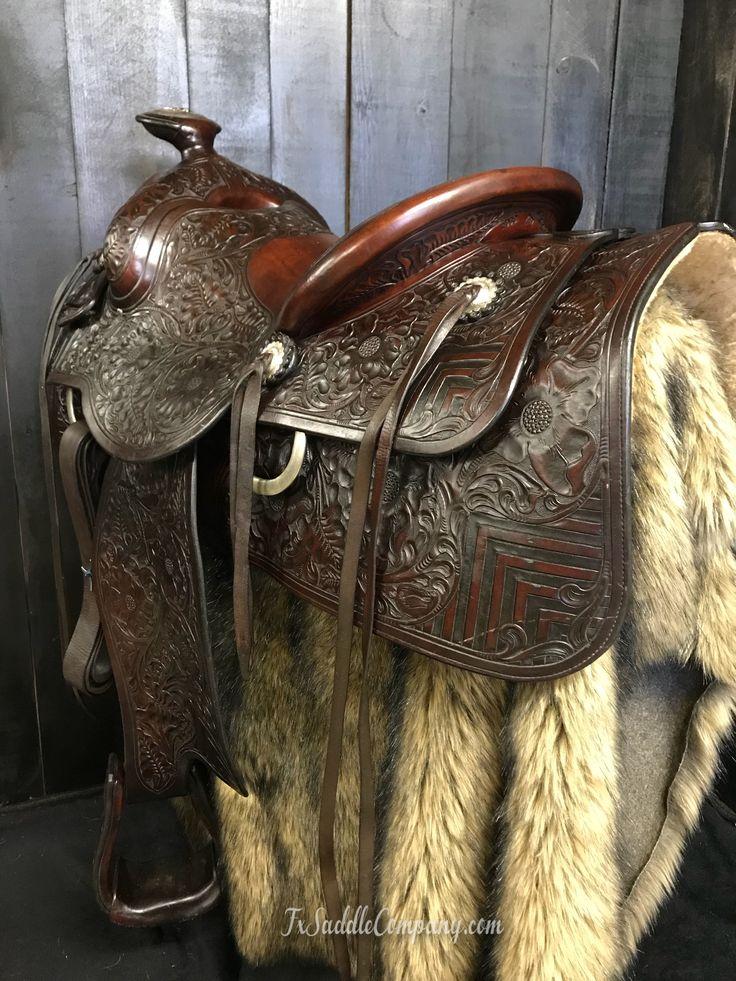 1944 Vintage custom built Hamley roping saddle for sale at FX Saddle Co.