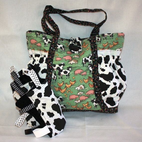 Farm Animal Cow Print Baby Diaper Bag Shower Gift By