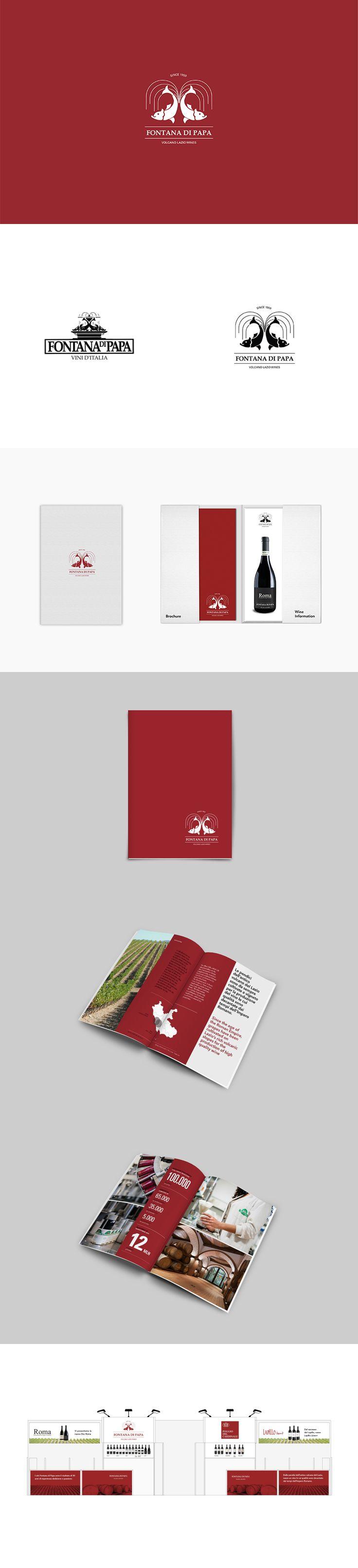 Fontana di Papa, Brand Design ─ Giulio Patrizi Design Agency ©  #wine #brand #identity