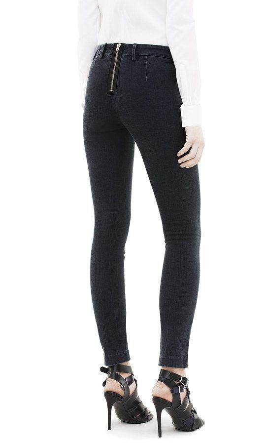 3a44c383461d ACNE Black Rocca Jeans with Zip Back. W24 (UK 4)  fashion  clothing  shoes   accessories  womensclothing  jeans (ebay link)