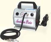 Fitur Airbrush Mini Compressor AS176 : Jenis Minyak piston, dapat berhenti secara otomatis Bekerja tekanan pengatur; Alat pengukur tekanan; kerja yang berkesinambungan Tangki udara kecil di dalam; Kelebihan termal dilindungi Cahaya on / off switch; Inlet udara filter dan lubang udara filter; pemegang airbrush Sertifikat : CE, GS, ETL, CETL Cocok Untuk : digunakan dalam craftwork penyemprotan, kosmetik, tato, penyamakan, hobi / model, lukisan kuku, dan airbrushing umum.