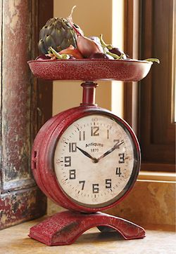 Unique Clock for a rustic kitchen or farmhouse kitchen.