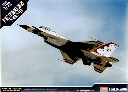 "Lockheed Martin F-16C ""Thunderbirds"". Academy, 1/72, injection, No.12429. Price: 18 GBP."