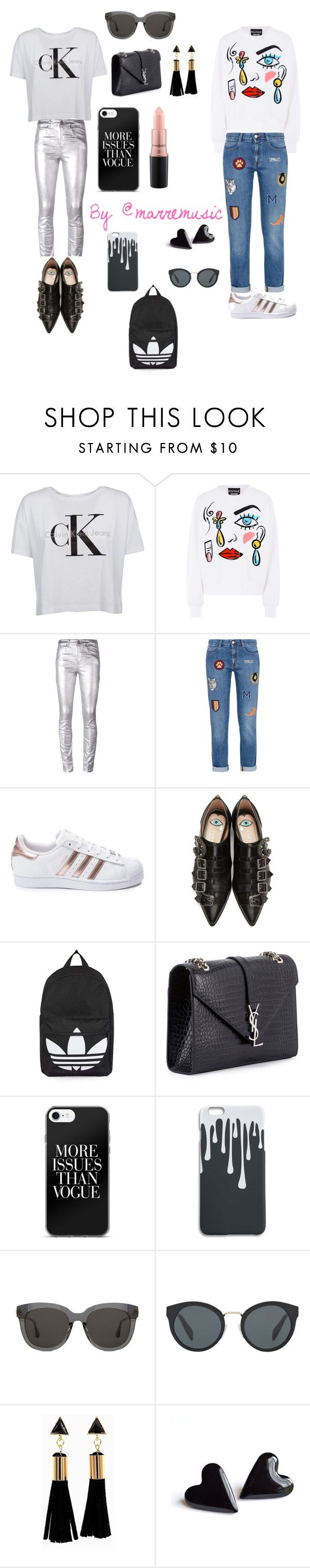 """Street style"" by marremusic on Polyvore featuring moda, Calvin Klein, Boutique Moschino, Étoile Isabel Marant, STELLA McCARTNEY, adidas, Gucci, Topshop, Yves Saint Laurent y Gentle Monster"