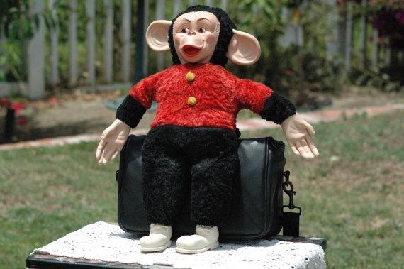 Vintage Monkey Doll. $60.00, via Etsy.