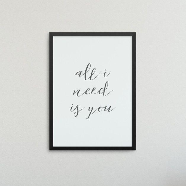 #Wanddeko Mit Romantischem #Spruch. Eine #Geschenkidee Für Paare / Gift  Idea For