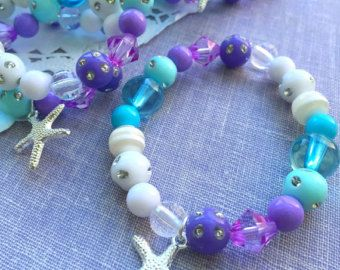 Mermaid party favor starfish children child kids by buysomelove