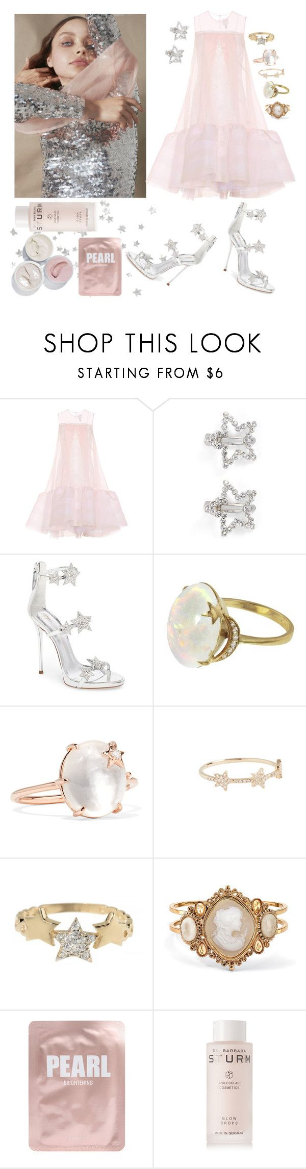 """""""starlet"""" by angelles ❤ liked on Polyvore featuring Somewhere Nowhere, HUISHAN ZHANG, Tasha, Giuseppe Zanotti, Andrea Fohrman, EF Collection, Talia Naomi, Palm Beach Jewelry, Lapcos and Dr. Barbara Sturm"""
