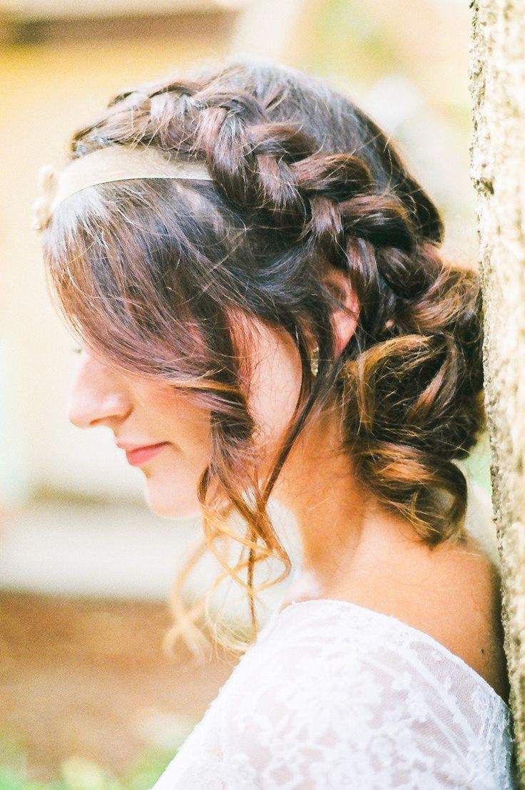 Messy romantic braid   Hair Style   See More: http://www.stylemepretty.com/2012/11/16/malibu-wedding-at-calamigos-ranch-from-kayla-adams-co   Photography: Kayla Adams & Co.