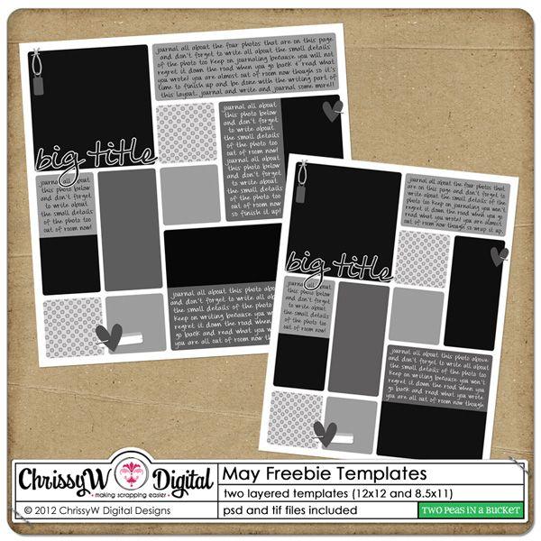 Free Digital Scrapbook Templates By Chrissyw Digital Scrapbook