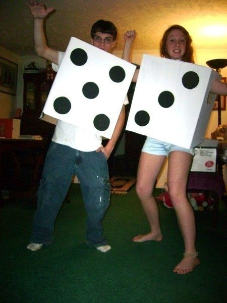 Pair Of Dice Costume  •  Free tutorial with pictures on how to make a full costume in under 60 minutes
