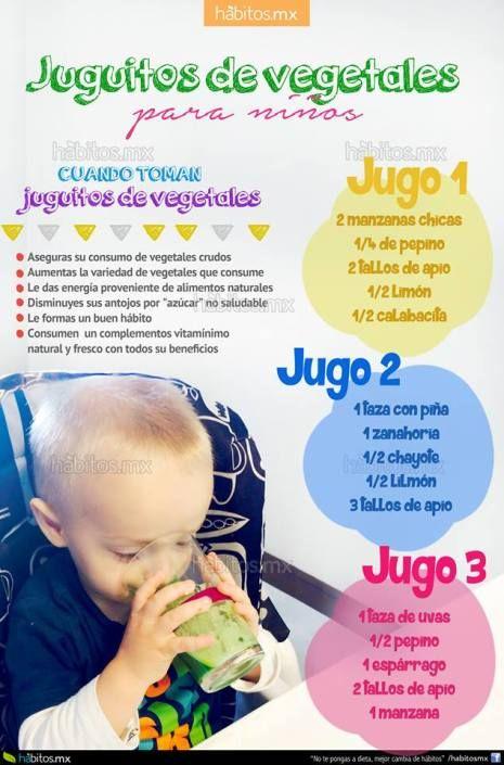 JUGUITOS DE VEGETALES PARA NIÑOS