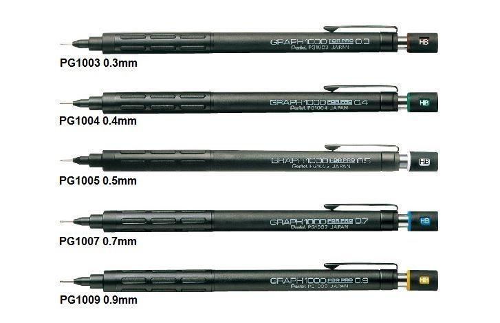 New Pentel Drafting Pencil Graph for Pro PG1000 series F/S Japan #Pentel