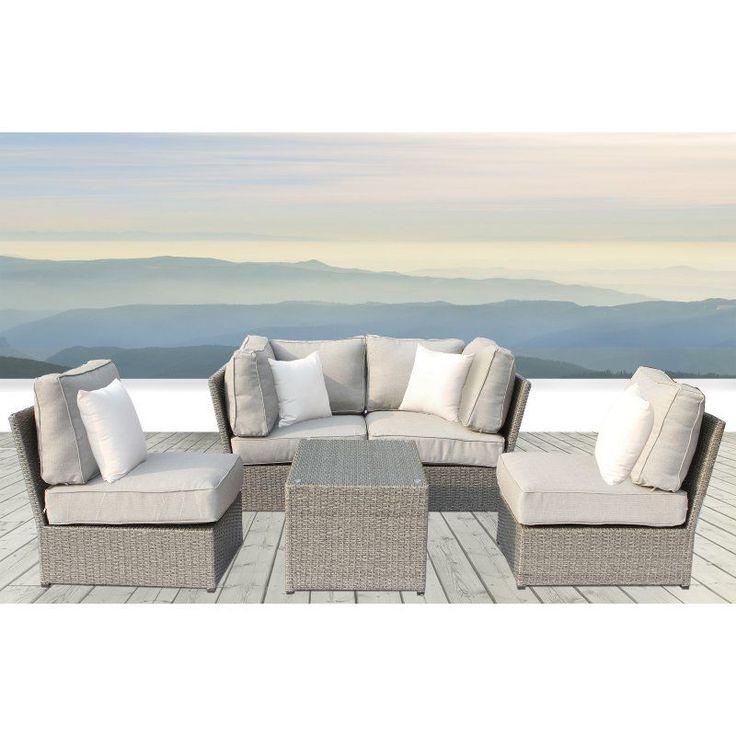 Outdoor Living Source International Chelsea Wicker 5 Piece Patio Conversation Set - CM-4205
