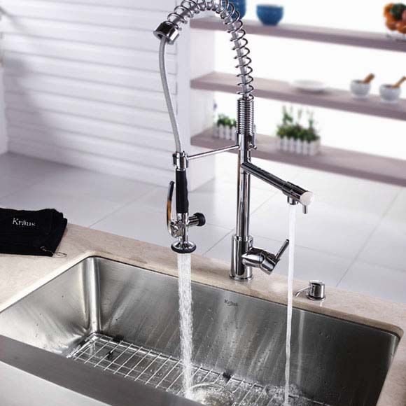 Modern Pull Down Kitchen Faucet