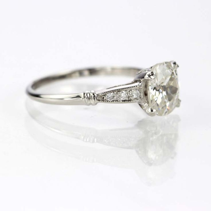 Leigh Jay Nacht Inc.  Art Deco Engagement Ring